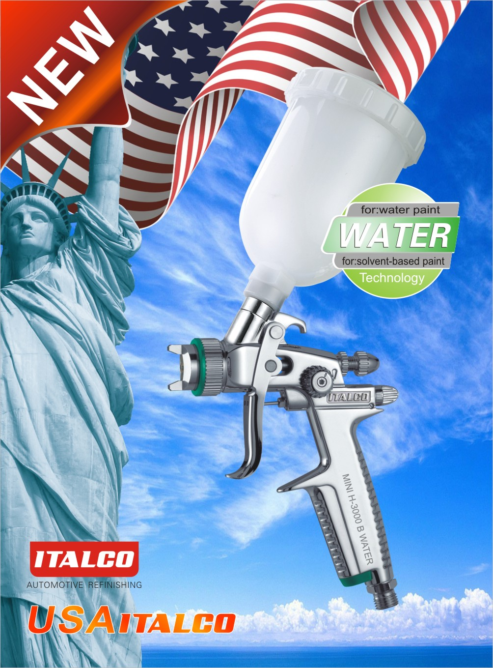MINI H-3000 B  Water-borne spray gun