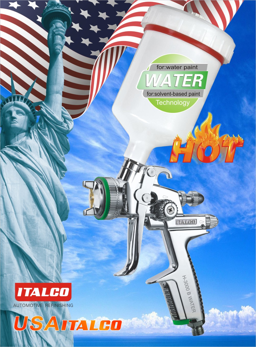 H-3000 B Water-borne spray gun
