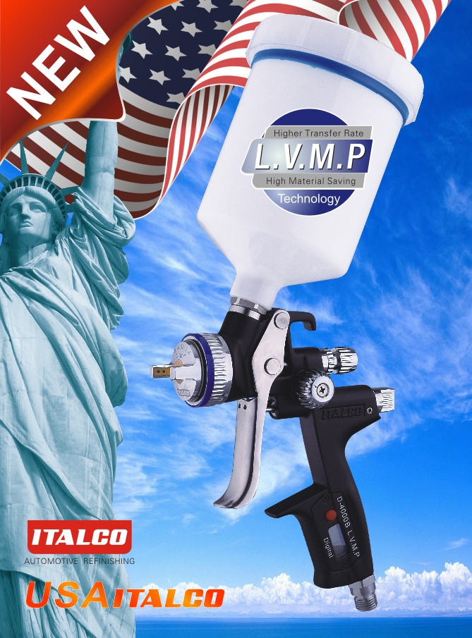 D-4000B L.V.M.P Digital Spray Gun